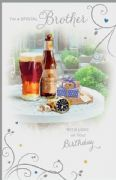 Brother Beer & Watch Birthday Card
